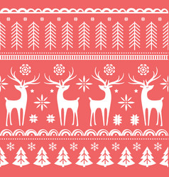 beautiful seamless pattern with gorgeous deer and vector image