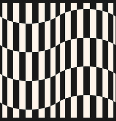 black and white vertical stripes seamless pattern vector image