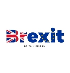 BREXIT - Britain exit from European Union on vector image