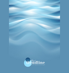 Bright blue wavy abstract background vector