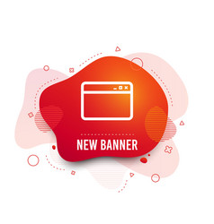 Browser window icon internet page sign vector
