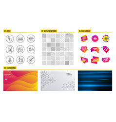 checkbox infochart and launch project icons send vector image