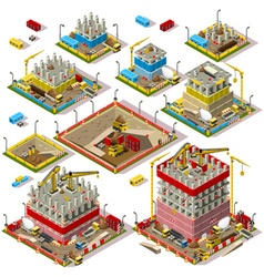 City Map Set 04 Tiles Isometric vector image