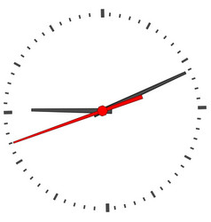 Clock face on white vector