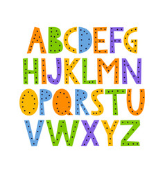 Cute and happy hand drawn alphabet vector