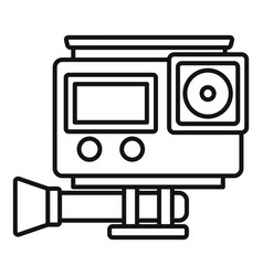 Digital action camera icon outline style vector
