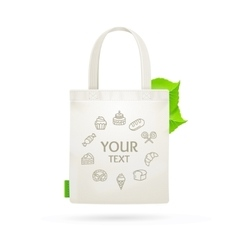 Eco Fabric Cloth Bag Tote vector