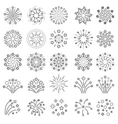 Fireworks icon sparks boom stars entertainment vector