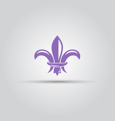 Fleur-de-lis isolated colored icon vector
