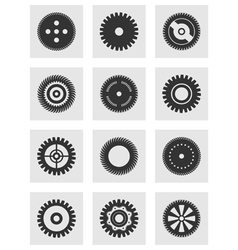 Gear wheel an icon vector
