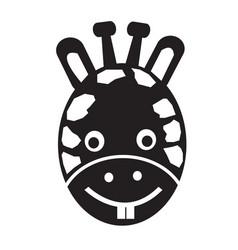 giraffe face emotion icon sign design vector image