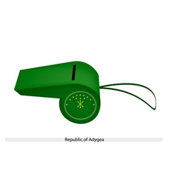 Green Whistle of The Republic of Adygea vector image