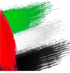 Grunge background in colors of uae flag vector