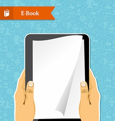 Hands holds an electronic book vector image