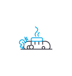 hot dog linear icon concept hot dog line vector image