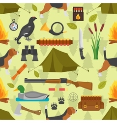 Hunting symbols seamless pattern vector