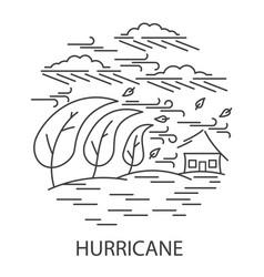 Hurricane natural disaster vector