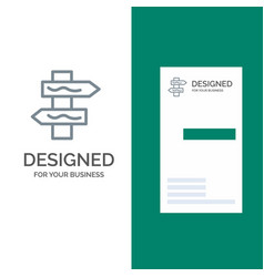 Index navigation road grey logo design and vector