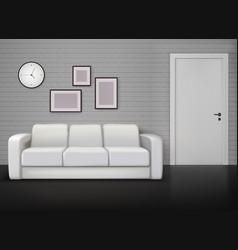 Interior realistic image vector