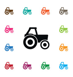 Isolated farm vehicle icon agronomy vector