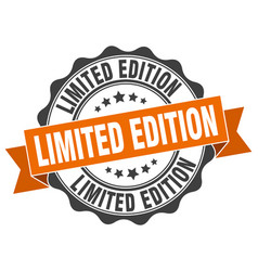 Limited edition stamp sign seal vector