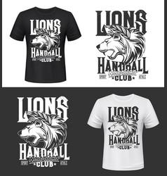 Lion tshirt print king animals mascot vector