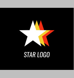 logo of star for business company with style vector image