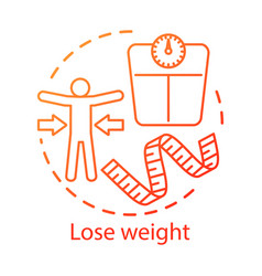 Lose weight healthy lifestyle concept icon vector