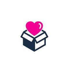 love box logo icon design vector image