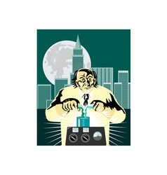 Mad Scientist City Background vector