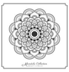 Mandala decorative ornament design vector