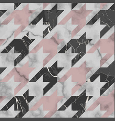 marble texture luxury houndstooth seamless vector image