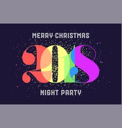 merry christmas 2018 vector image