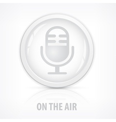 Microphone icons button vector image