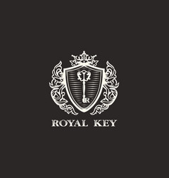 Modern professional sign logo royal key vector