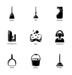 Neat icons set simple style vector