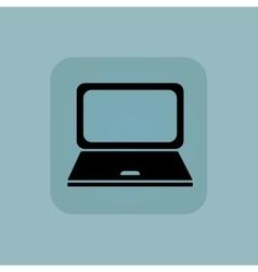 Pale blue laptop icon vector