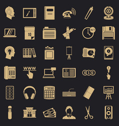Paperwork icons set simple style vector