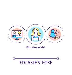 Plus size model concept icon vector