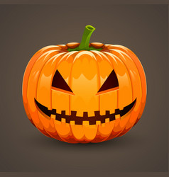 Pumpkin for halloween on dark background vector