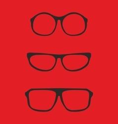 Red nerd glasses for professor or secretary vector image