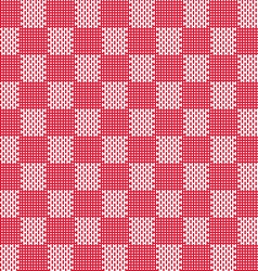 red white seamless fabric texture pattern vector image
