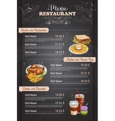Restaurant vertical color menu vector
