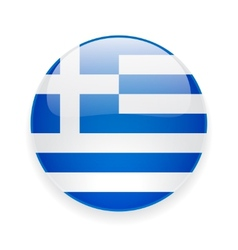 Round icon with flag of Greece vector image vector image