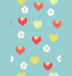 seamless pattern with cute heart-shaped vector image