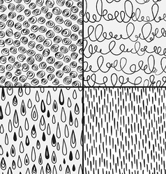 set abstract doodles with doodles circkes drops vector image
