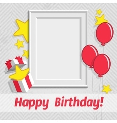 Single birthday frame vector