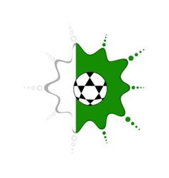 soccer ball on a nigerian emblem vector image
