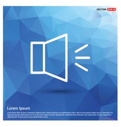 Sound volume icon vector