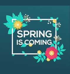 spring is coming - modern colorful vector image